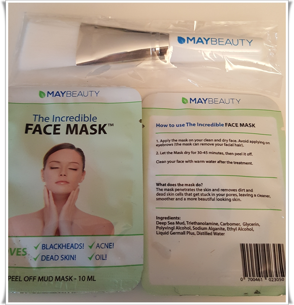 maybeauty peel off mud mask